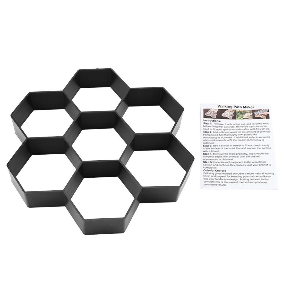 1 Pc Heißer Verkauf Diy Garten Pfad Maker Form Beton Stepping Stein Zement Pflaster Form Ziegel üBerlegene (In) QualitäT