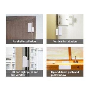 Image 5 - 1/3/5/10 stücke 433 MHz Zwei weg Magnetische Sensor Drahtlose Tür Fenster Öffnen Schließen detektor Kontaktieren Alarm System Für GSM Home Security
