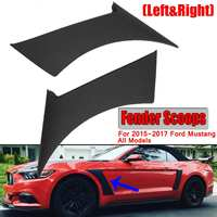 2x Car Front Side For Fender Door Scoops Frame Cover For Ford For Mustang GT350 Style 2015 2017 Car For Fender Scoops Cover