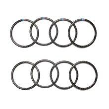עבור BMW X5 E70 X6 E71 2009 2010 2011 2012 2013 4pcs / 6pcs סיבי פחמן רכב דלת רמקול טבעת כיסוי רמקול
