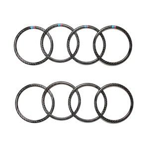 Image 1 - Für BMW X5 E70 X6 E71 2009 2010 2011 2012 2013 4 stücke/6 stücke Carbon Faser Auto Tür lautsprecher Ring Lautsprecher Abdeckung