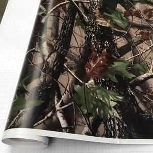 Image 2 - 50*200cm Camouflage Car Wrap Real Camo Tree Vinyl Break up Jumbo Leaf Graphic PVC Car Styling Sticker Film Golf Cart Truck