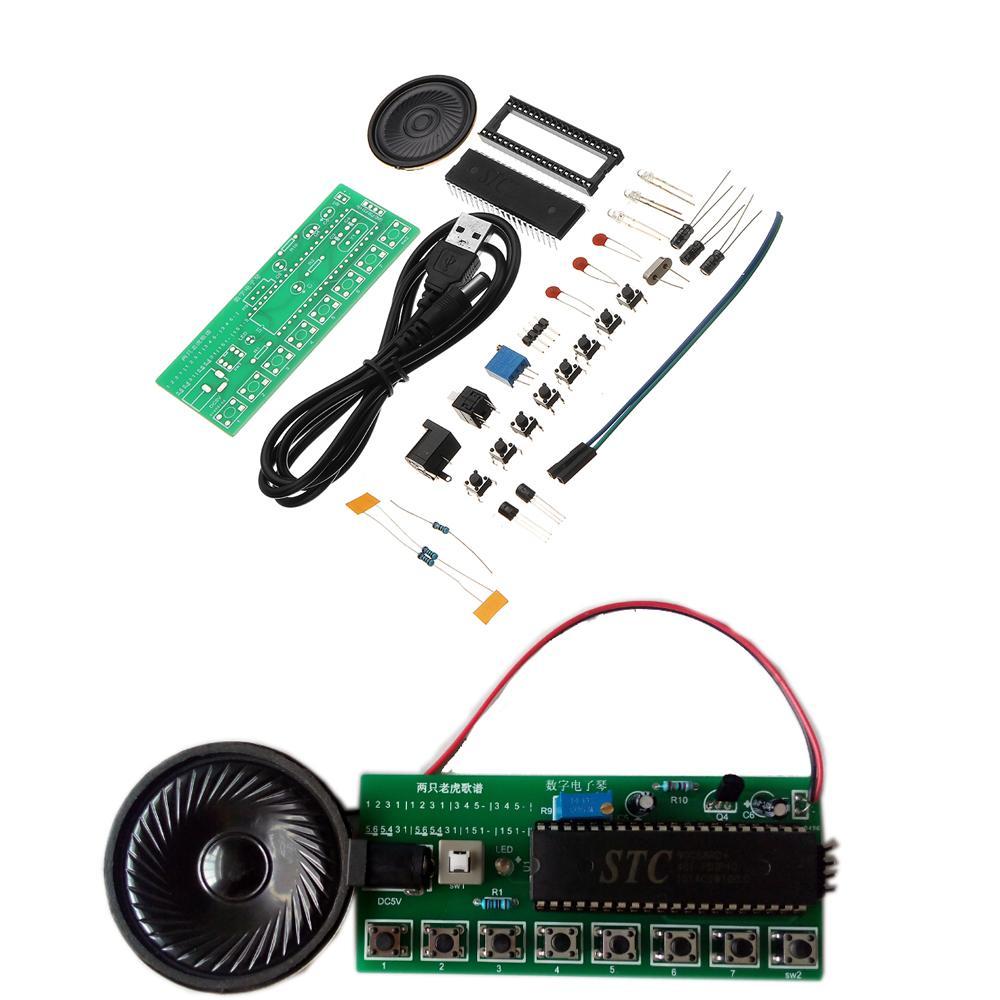 DIY Electronic Piano Making Kit Single Chip Microcomputer Music Box Module KitDIY Electronic Piano Making Kit Single Chip Microcomputer Music Box Module Kit