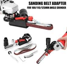 Nuevo adaptador de cinta de lijado DIY para amoladora angular eléctrica 100/115/125 para carpintería M10/M14 de alta calidad