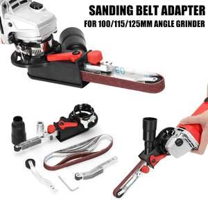 Image 1 - Nuevo adaptador de cinta de lijado DIY para amoladora angular eléctrica 100/115/125 para carpintería M10/M14 de alta calidad