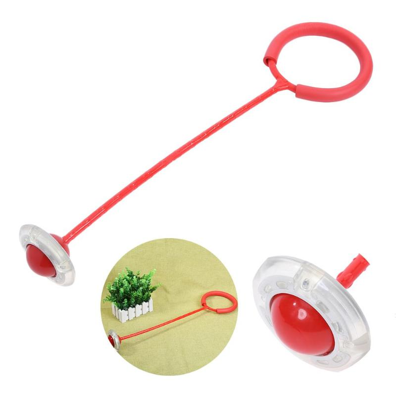 Flash Springen Fuß Kraft Ball Kinder Outdoor Fun Sport Spielzeug LED Kinder Springen Kraft Reaktion Training Ball Kind-eltern spiele