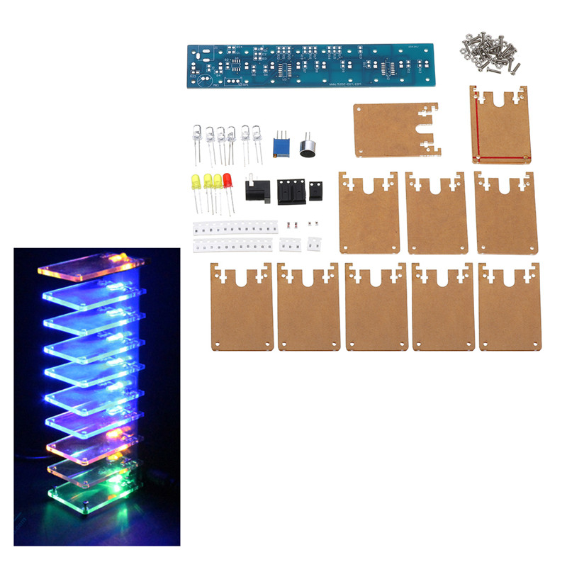 Leory Diy 3d Light Cube Kit Blue Led Mp3 Music Spectrum Diy Electronic Kits 8x8x8 512led Display Electronic Production Diy Kits Highly Polished Accessories & Parts Back To Search Resultsconsumer Electronics
