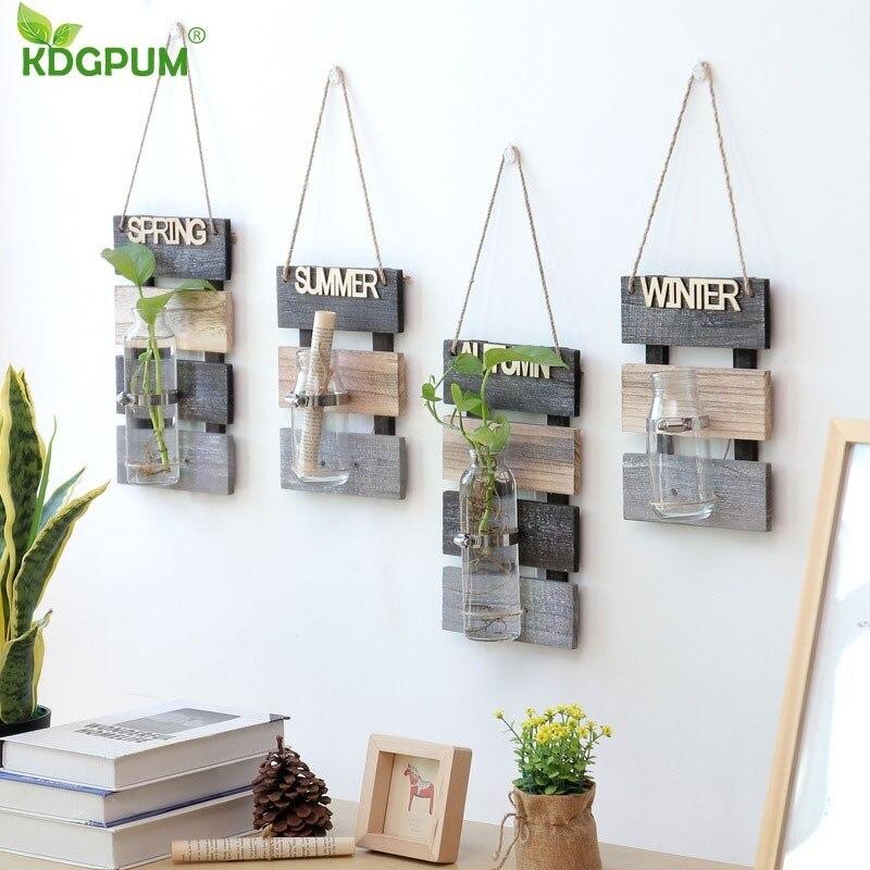Wall Hanging Plant Pot Hydroponics Plant Glass Vase Indoor