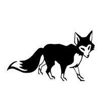 Cute And Interesting Fox Fur Motorcycle SUVs Car Bumper Laptop Vinyl Decal Sticker
