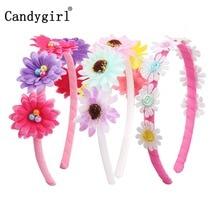 1pc Boho Flower Princess Headbands Baby Girl Kids Women Hairbands Headpieces Wreath DIY Accessories Hair Band bandanas Headwear