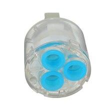 35 мм Керамический дисковый картридж смеситель кран термостатический картридж кран дисковый клапан прозрачный синий шпиндель свободное вращение смеситель