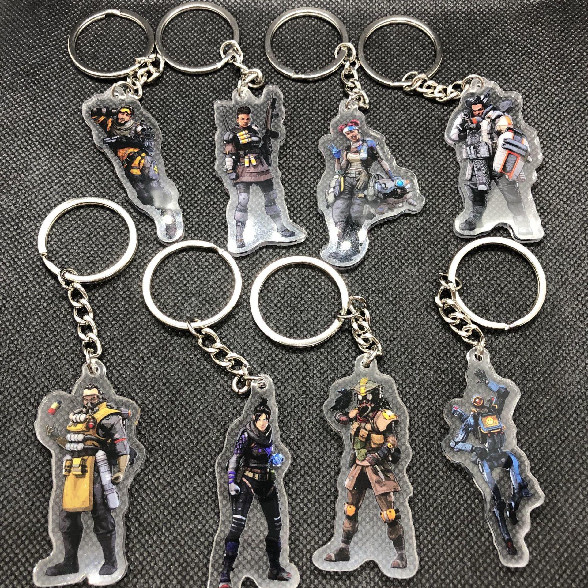 Apex Hero Periphery Key Buckle Second Gram Force 8 Individual Legend Comic Game Key Buckle Lifeline Key Buckle