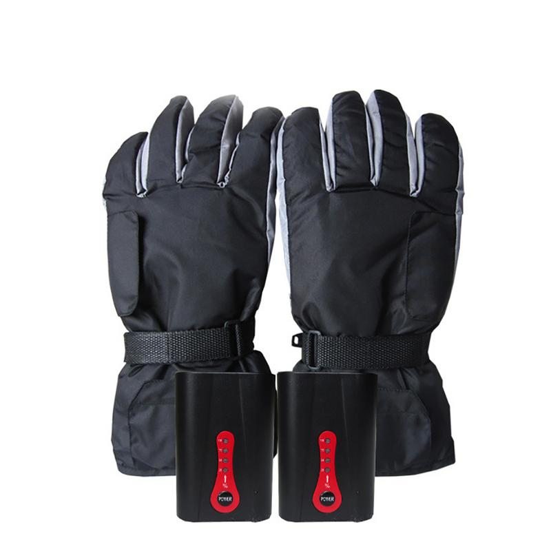 все цены на Electric Battery Heated Gloves Waterproof Outdoor Sport Temperature Control Motorcycle Bicycle Ski Hunting Gloves Winter Warmer онлайн