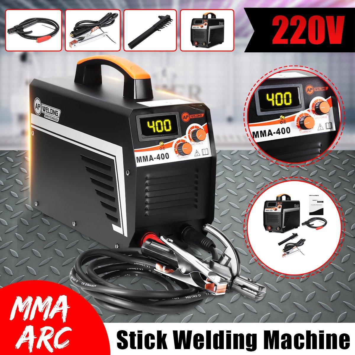 IGBT Inversor Máquina de Solda a Arco Elétrico MMA-400 220 V Display Digital de Trabalho de Soldagem MMA Arc Soldadores Vara Definido Para Casa ferramentas