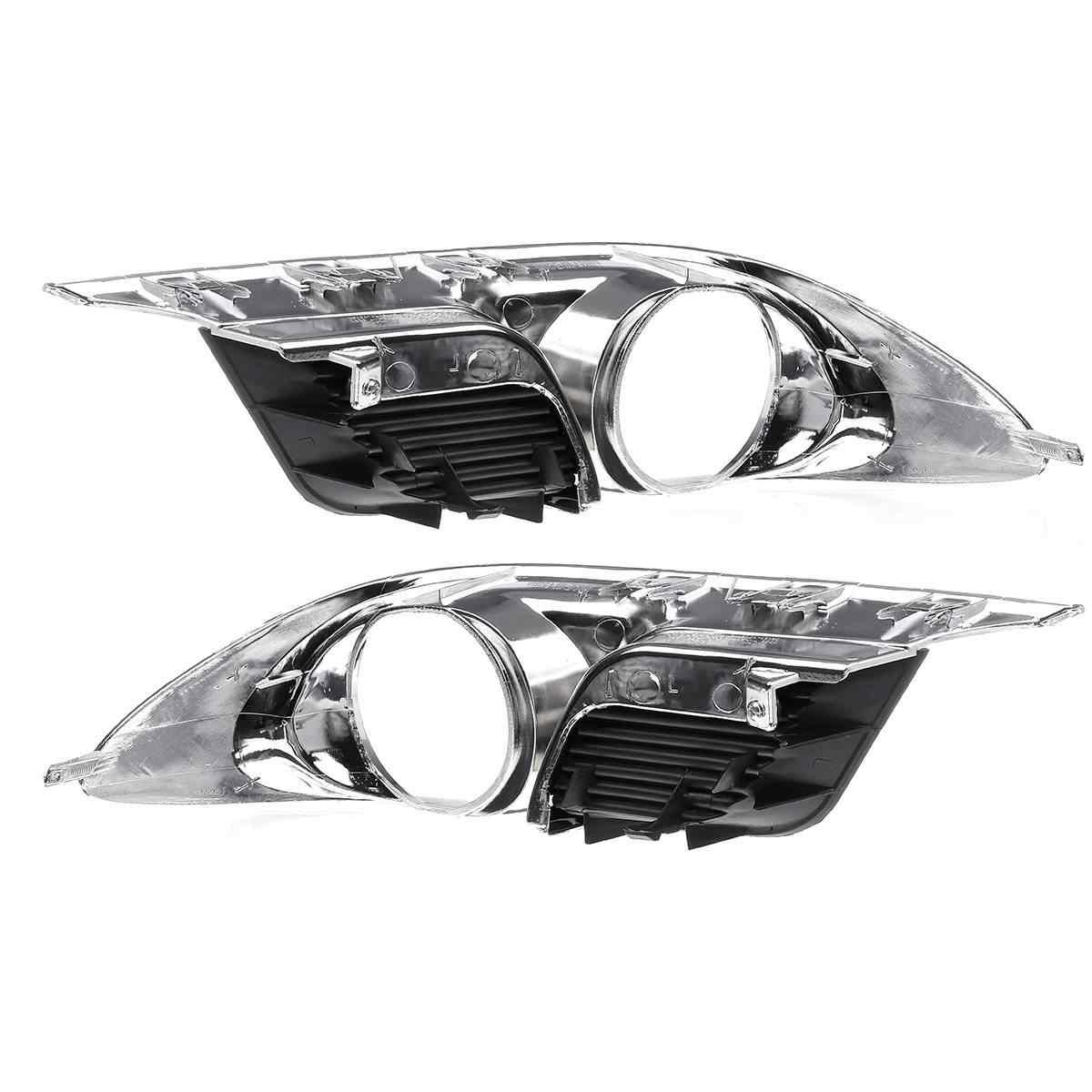 Pair Front Bumper Lower Fog Light Frame Cover For Toyota Avalon 2011-2012 Left & Right Car Auto Fog Light Protector chrome
