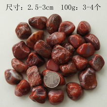 100g natural large South red agate gravel original stone particles home decoration fish tank flower pots mat
