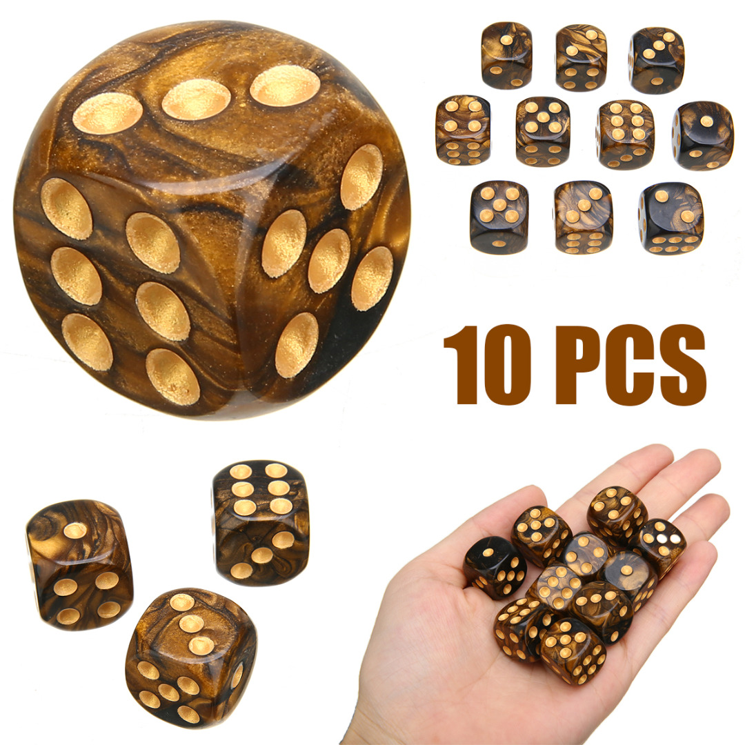 Hot Sales 10Pcs Modern Six Sided Mixed Colored Drinking Dice Game Playing Dice For Parties TRPG Gamer