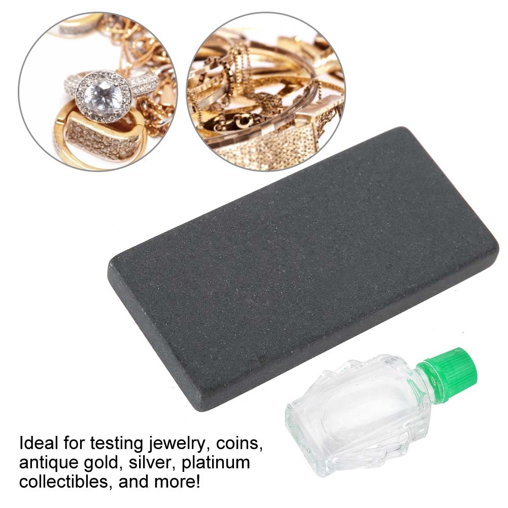 Professional High purity Graphite Stone Practical Acid Kit Silver Platinum Gold Testing Touchstone Jewelry Tools Set for Jeweler