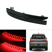 ANGRONG 2x Black Lens LED Rear Bumper Reflector Brake Tail Stop Light For VW Tiguan 5N 08+