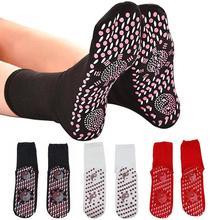 Спортивные массажные носки для женщин фитнес хлопковые носки для тренажёрного зала Нескользящие массажные носки для йоги, пилатеса турмалиновый магнит терапия Уход за ногами