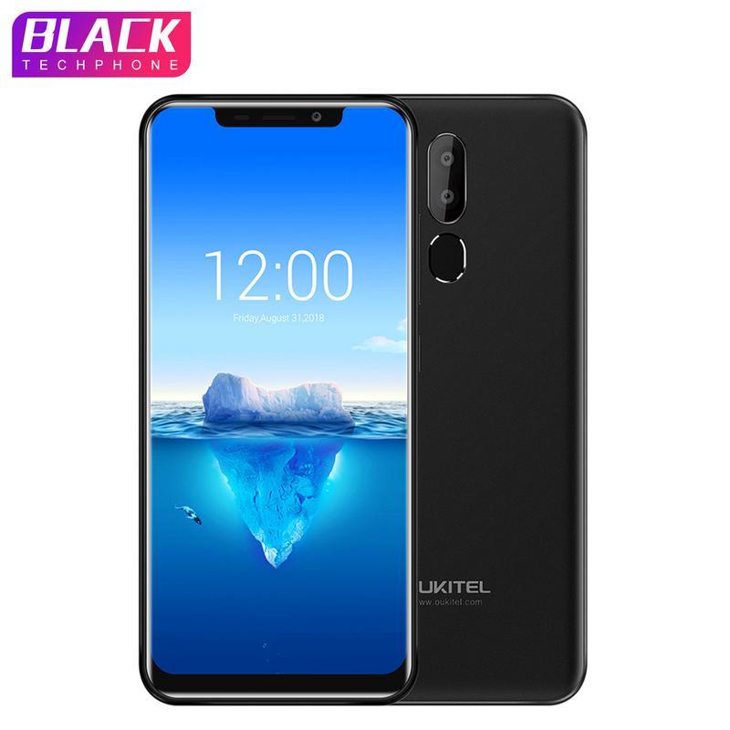 D'origine OUKITEL C12 Pro 6.18 19:9 Android 8.1 Mobile Téléphone MT6739 Quad Core 2G RAM 16G ROM d'empreintes digitales 4G 3300 mAh Smartphone