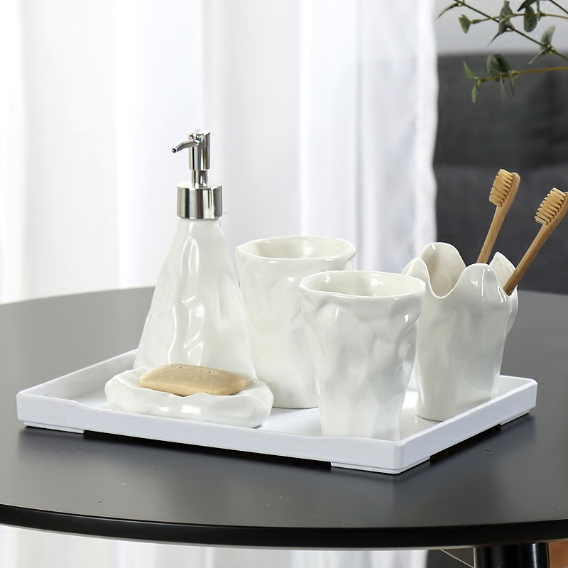 High Quality White Ceramic Bathroom Set Accessories With