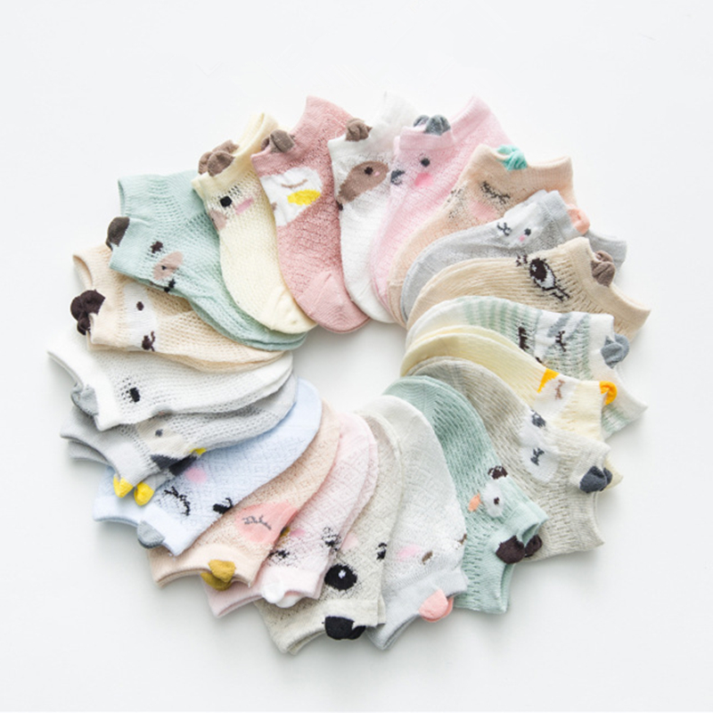Baby Socks Newborn Cartoon Cotton Baby Socks For Girls Infant Toddler Baby Boys Socks Summer Style Baby Girl Clothes Accessories
