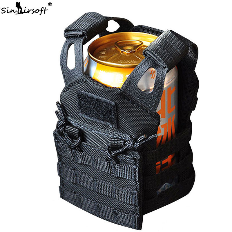 Multicam US Army Tactical Advanced Beer Military Molle Mini Hunt Outdoor JPC Vest Drink Cooler Adjustable Shoulder Strap Militar