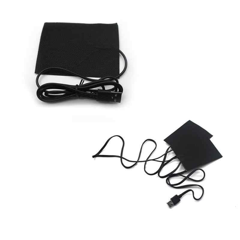 Открытый углеродного волокна электрические нагревательные колодки тепловая одежда водонепроницаемый нагреватель DIY с подогревом одежда Мобильная куртка согревающие шестерни