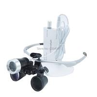 3W LED Medical Headlight Headlamp+2.5X Medical Magnifier Loupes Medical Surgery Dental Headlight Loupe Set with Cloth Box