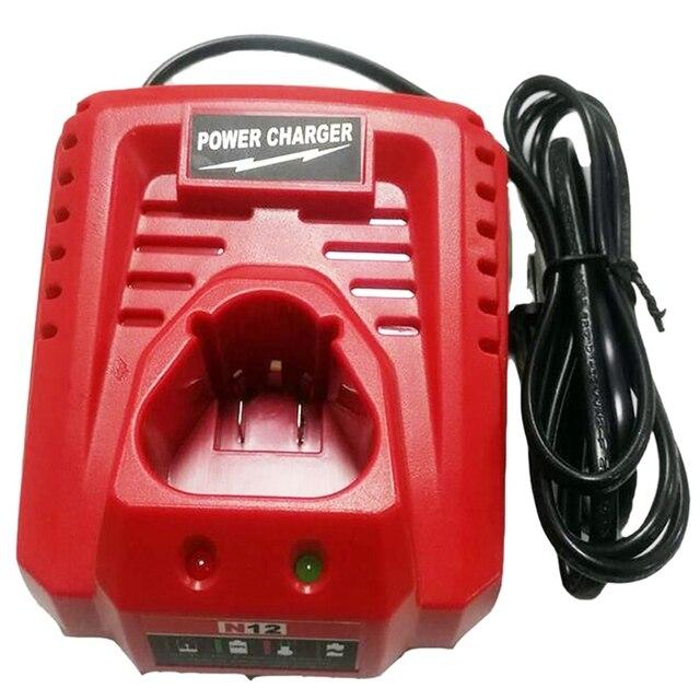 3.0A 10.8V 12V Li Ion Vervanging Batterij Lader Voor M12 Milwaukee N12 48 59 2401 48  11 2402 Lithium Ion Batterij Eu Plug