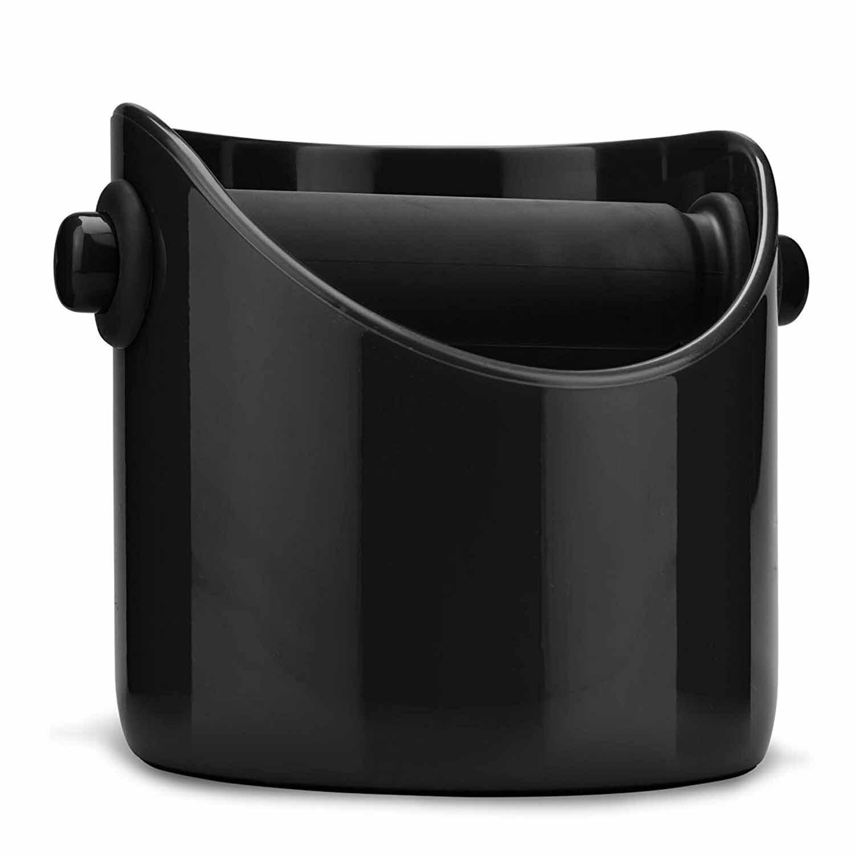 Sıcak satış kahve öğütme ahşap kutu ve Espresso çöp kutusu siyah