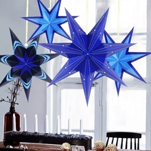 Pack Of 1pc Happy New Year Decoration Hanging Paper Star Lantern Christmas For Home Christma Ornament Merry