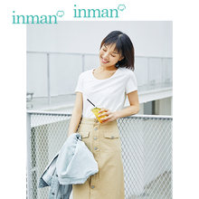 INMAN 2019 Summer New Arrival Solid All Matched Slim Korean Casual Student Style Short Sleeve Women Cotton T-shirt(China)