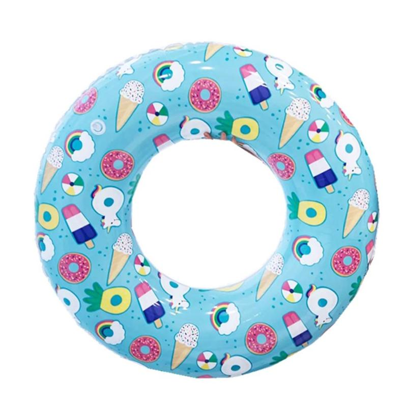 60/70/80/90cm Baby Kids Summer Swimming Float Toys Cartoon Print Inflatable Adult Kids Swimming Toy Pool Float Armpit Circle