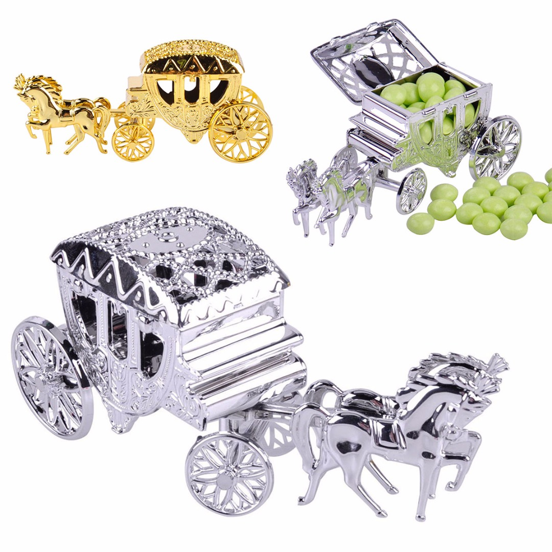 Carriage Sweet Candy Box Case Chocolate Gift Birthday Wedding Party Decoration 2018 NewStyle