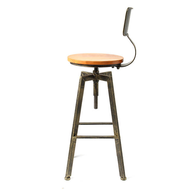 Swell Us 86 07 52 Off Retro Industrial Bar Chair Stool Adjustable Wood Iron Stool 360 Degree Rotating Counter Lift High Chair Home Bar Decor 3 Colors In Inzonedesignstudio Interior Chair Design Inzonedesignstudiocom