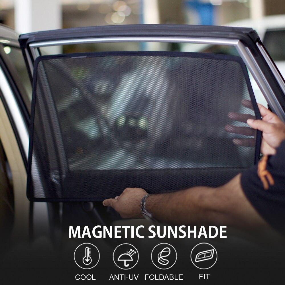 4pcs Magnetic Car Window Sun Shade Blind Mesh Side Door