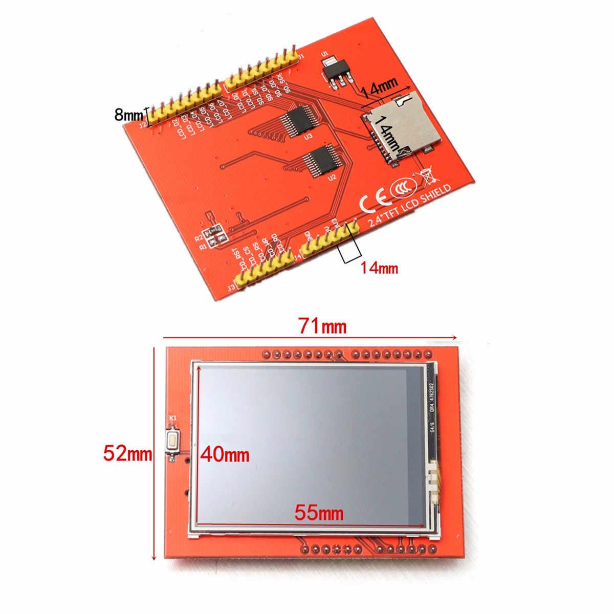 USB 32k فلاش UNO-R3 الذاكرة ATmega328P مجلس 2.4 بوصة TFT LCD شاشة تعمل باللمس وحدة عدة لاردوينو 240x320 أسرع نقل