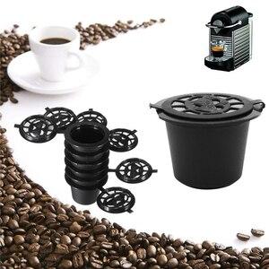 Image 2 - Cápsulas reutilizáveis de café preto Nespresso, 6 unidades, escova, colher, refil de filtro, para presente