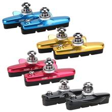 2PCS/1Pair MTB Road Bike Bicycle Cycling V Brake Pads Holder Rubber Blocks C Clamp Durable Parts NEW
