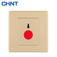 CHINT Emergency Call Switch Push Button Switch Wall Switch Socket NEW2D Light Champagne Golden Call Switch
