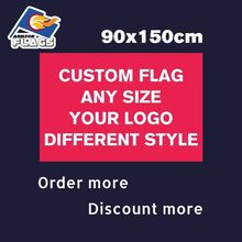 Custom Flag 150*90cm LGBT Flags 100D Polyester 3x5ft Customized Banners Several Pieces for Your Logos Any Size Sale New Year(China)