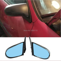SPN Style Side Mirrors ABS Black (Manual) Fits 1992 1996 EG 1996 2000EX Hond Civi 4dr (Fits: Hond Civic)