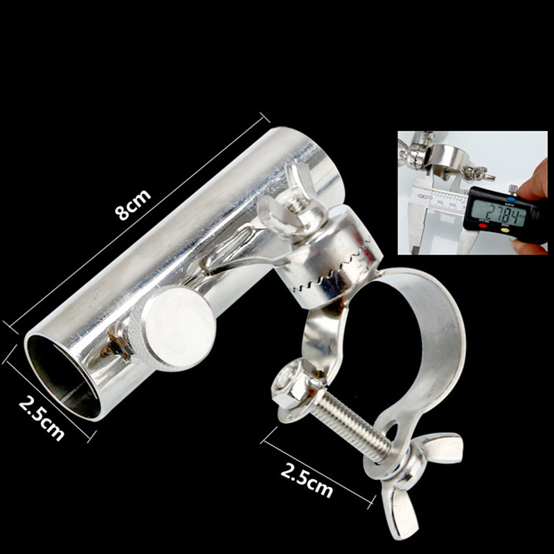 Image 4 - Stainless Steel Fishing Rod Stand Fishing Tools And Accessories Boat Rod Holder Rack Rod Pole Bracket Tool-in Fishing Rods from Sports & Entertainment