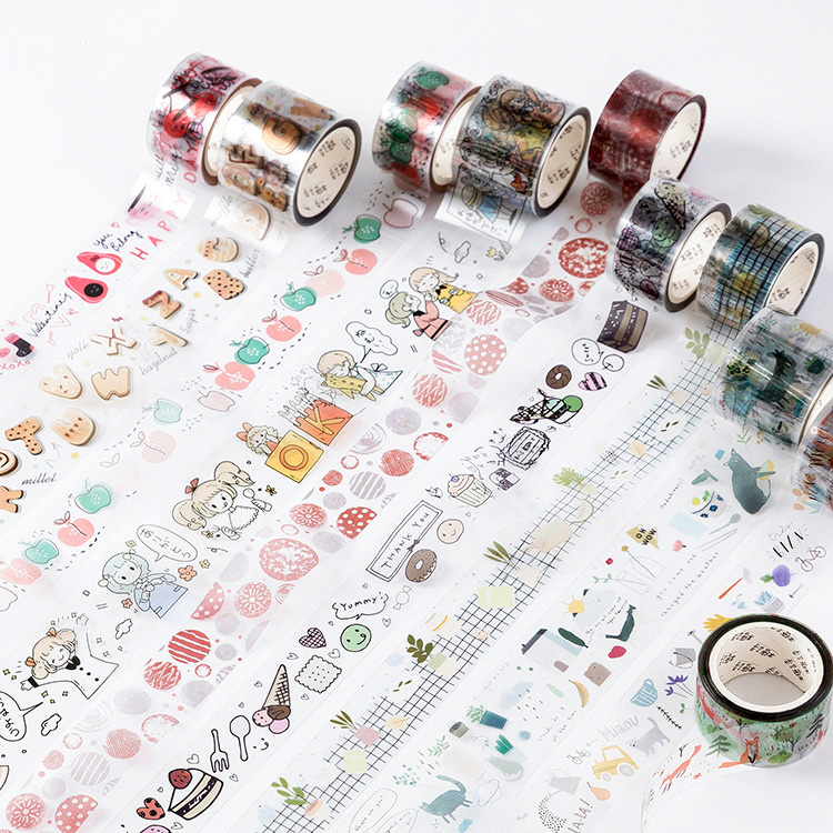 Mohamm Happy Infinity Series Cute Washi Tape Masking Tape Journal Supplies Scrapbooking Paper Stationary