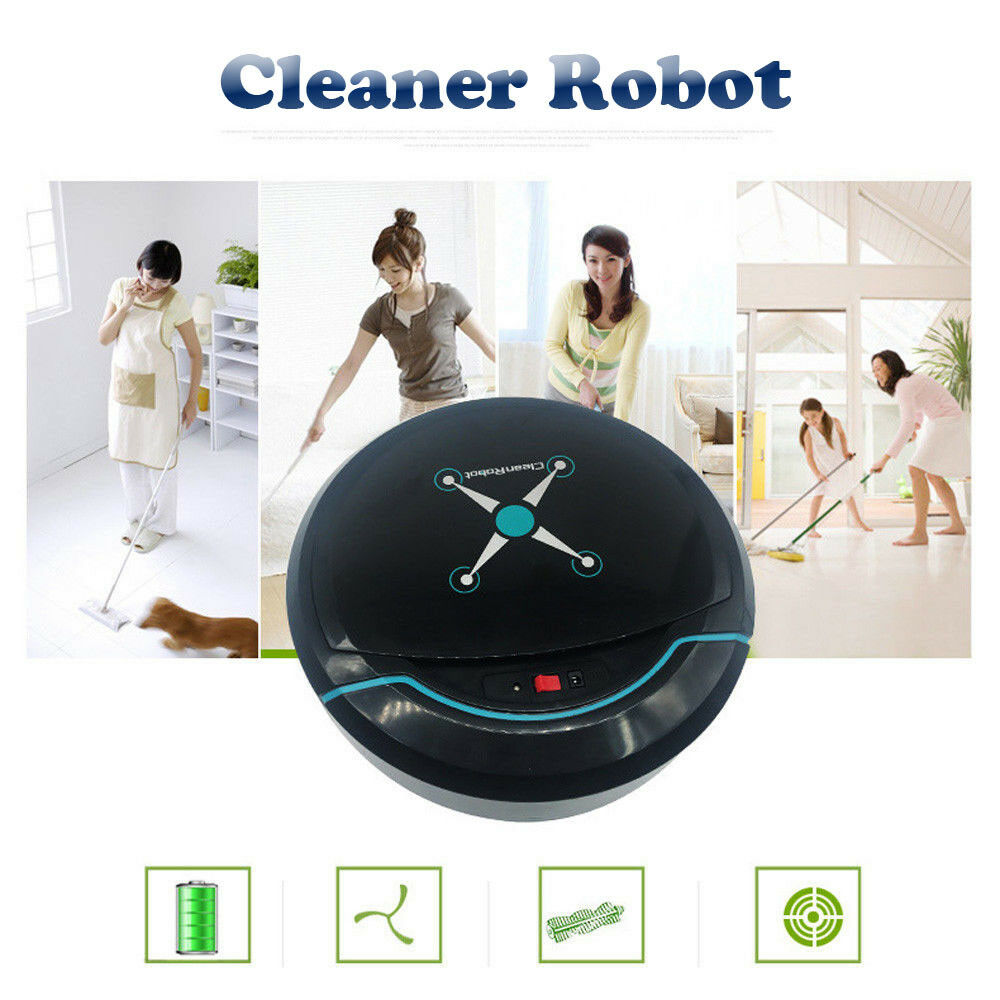 Smart Robotic Vacuum Cleaner Cordless Automatic Sweeping Machine Rechargeable(China)