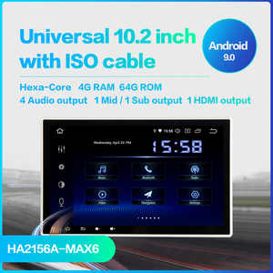 "Image 2 - Dasaita 10.2 ""tela hd 2 din rádio do carro android 9.0 universal estéreo multimídia para nissan bluetooth gps navegação 64g rom"