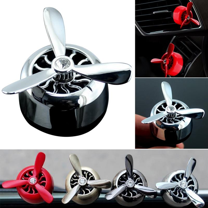 Car Perfume Aroma Diffuser Seat Air Conditioner Vent Propeller Lasting Refreshe Single Sale Accessories Lemon Green Tea Sea Wind in Air Freshener from Automobiles Motorcycles