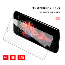 for iPhone 6s 6 Plus Screen Protector for iPhone 7 8 Plus Tempered Glass for iPhone 5s 5 SE iPhone X XR XS Max Protective Film все цены